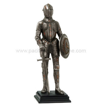 Medieval Knight Standing with Sword and Shield - 8562