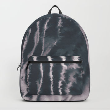 F-Tie dye- blue & white Backpacks by DuckyB