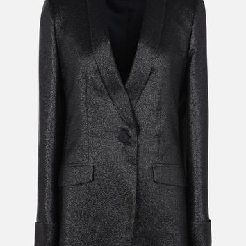 JACKET IN GEORGETTE LUREX WITH SHAWL COLLAR for Women | Emporio Armani