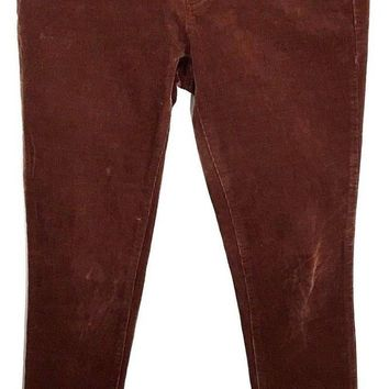 Pilcro and the Letterpress Serif Brown Corduroy Pants Skinny Jeans Womens 27 - Preowned