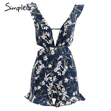 Casual hollow out summer  playsuit