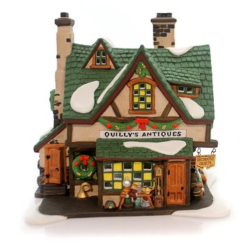 Department 56 House Quilys Antiques Village Lighted Building