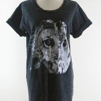 Owl T-Shirt Bird T-Shirt -- Bleach Shirt Black Shirt Unisex T-Shirt Women T-Shirt Men T-Shirt Owl Shirt Bird Shirt Animal T-Shirt Size M