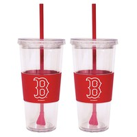 Boston Red Sox 2-pc. Double-Walled Straw Tumbler Set (Rsx Team)