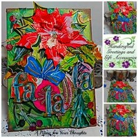 Fa La La Mixed Media Holiday Canvas Board.