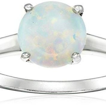 Gemstone Solitaire Ring in Sterling Silver 8mm