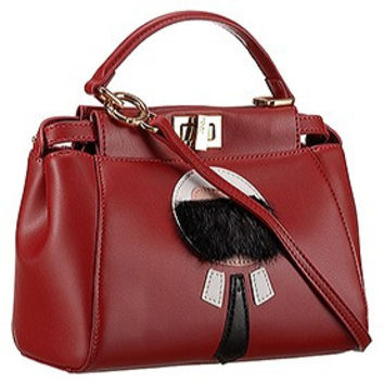 Fendi Peekaboo Karlito Capsule Detail Red Bag
