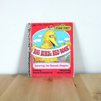 Big Bird's Red Book Featuring Jim Henson's Muppets {1977} Vintage Book