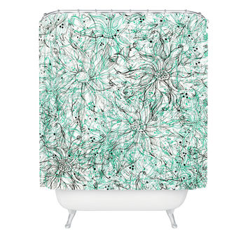 Lisa Argyropoulos Angelica Aqua Shower Curtain