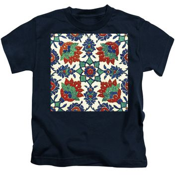 An Ottoman Iznik Style Floral Design Pottery Polychrome, By Adam Asar, No 13a - Kids T-Shirt