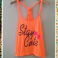 Bungee Tank W/ Elastic Bottom- Stay Cute
