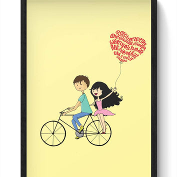 Best Friend Couple Laminated Framed Poster