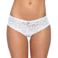 Leaf Patterned Lace Cheeky