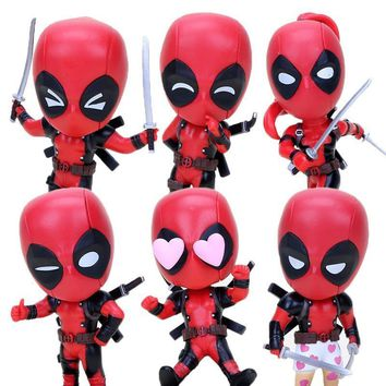 Deadpool Dead pool Taco 3pcs/lot 10cm Superhero action figure  BobbleHead decoration PVC Action Figure Toy  with sword cosbaby AT_70_6