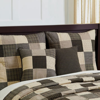 Kettle Grove - King - Quilt and Shams Set - Country Plaid Patchwork - 100% Hand-quilted Cotton - Primitive Rustic - Extra Long!