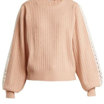 Balloon-sleeved wool-blend sweater | See By Chloé | MATCHESFASHION.COM UK