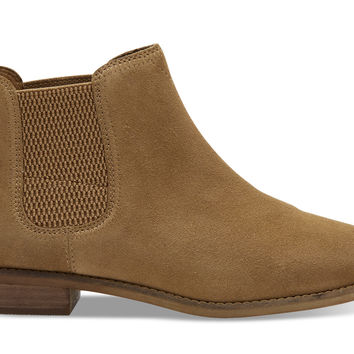 TOFFEE SUEDE WOMEN'S ELLA BOOTIES