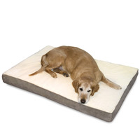 Orthopedic Oscar Dog Bed Replacement Cover - Latte/Birch