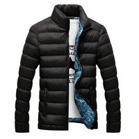 2017 Winter Jacket Men New Spring Men's Cotton Blend  Mens Jacket And Coats Casual Thick Outwear For Men Plus Clothing Male 4XL