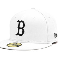 Boston Red Sox MLB White And Black 59FIFTY Cap
