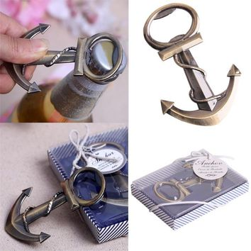 Copper Anchor Opener For Nautical Sea Beach Themed Wedding Party (Color: Copper)
