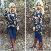 Winter Bloom Floral Top
