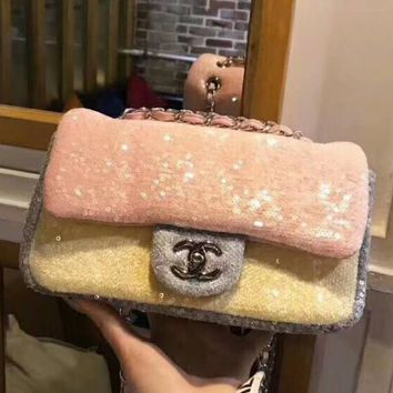 Chanel sequin series cf classic fashion trend high-end chain bag F-AGG-CZDL