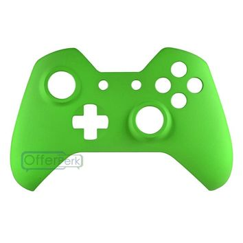 Custom Soft Touch Green Game Front Shell Faceplate Cover for Xbox One Controller #XOMSF05