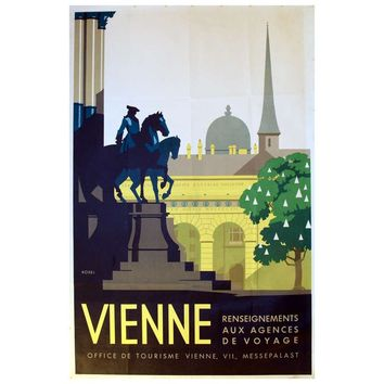 1930s Art Deco Travel Advertising Poster by Kosel, Vienna, Austria