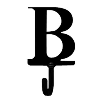 Wrought Iron Letter B Wall Hook Small