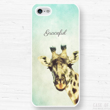 iPhone 5 4 Giraffe Case  Wild African Animal  by CaseOfIdentity