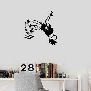 Vinyl Wall Decal Jump Boy Purker Jumper Sport Decor Stickers Mural (g008)