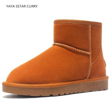 YAYA SSTAR CURRY 2018 new sports shoes sheepskin warm breathable couple snow boots men men UG 5854 walking shoes