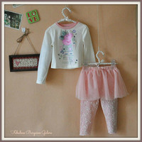 Peppa Pig Girls Top and Tutu Skegings