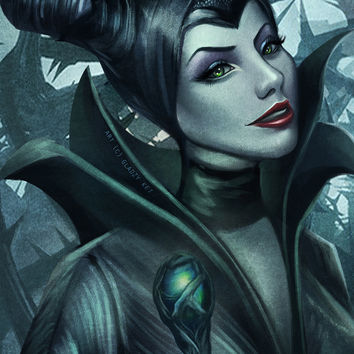 Maleficent Art Print by GLadzy Kei Zuniga