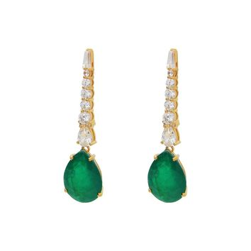 Southpoint Gala Emerald Drop Earrings |Sterling Silver