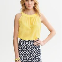 Silk Open-Back Top | Banana Republic