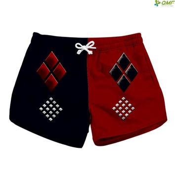 Harry Quinn Print Shorts Mujer Newest 2018 Beach Short Women High Quality Holiday Print Summer Short With Pocket Ladies Short