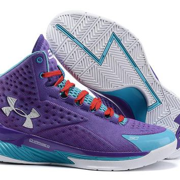 Under Armour Curry Purple /Blue   Basketball Shoes