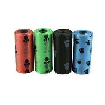 Zero 10Roll=150PCS Degradable Pet Dog Waste Poop Bag With Printing Doggy Bag free shipping