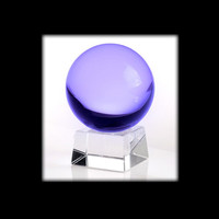 "3"" Purple Alexandrite Clear Magic Crystal Ball"