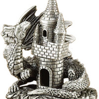 Cone Incense Burner - Castle & Dragon Pewter