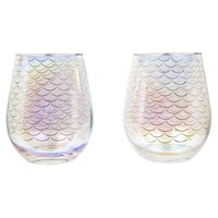 Stemless Cocktail Glasses Magical Sea - Set of 2