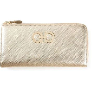 DCCKIN3 Salvatore Ferragamo Gancini zip around wallet