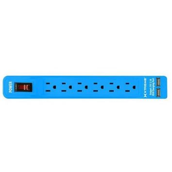 Xtreme 6-Outlet Power Strip with Dual Port USB - Walmart.com