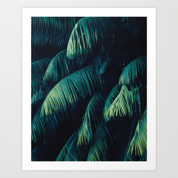 Green palm tree leaf #society6 Art Print by designerkanchan