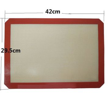 1 Pc 42*29.5 cm Non-Stick Silicone Baking Mat Rolling Dough Mat Oven Liner Cookie Baking Sheet Silpat Baking Liner Mat Tools