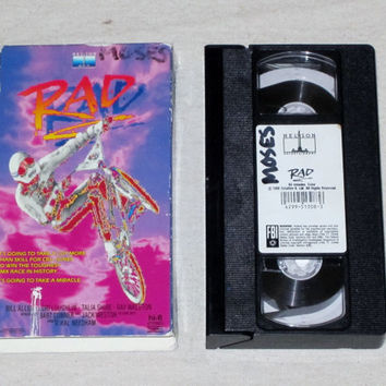 Vintage Rare 1986 RAD Movie BMX Bike Bill Allen Lori Loughlin Talia Shire Cult Classic VHS