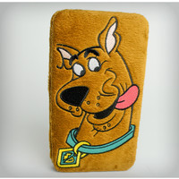 Scooby Doo Big Face Furry Hinged Wallet