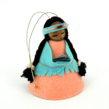 Indian Maiden Doll Ornament of Betsey Clark Christmas Card by Mary Jane Yandre